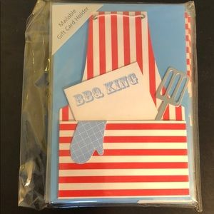 Gift card holders set of 6 BBQ King with envelope